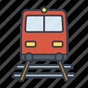 holidays, railway, summer, train, transportation, travel, vacation icon