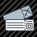 boarding pass, flight, holidays, summer, ticket, travel, vacation icon