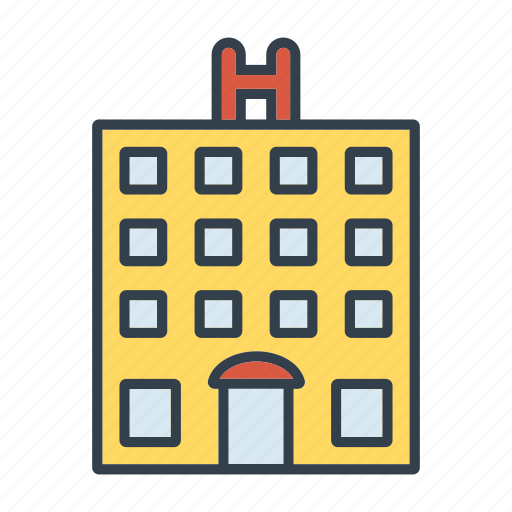 Building, summer, travel, hotel, vacation, holidays icon