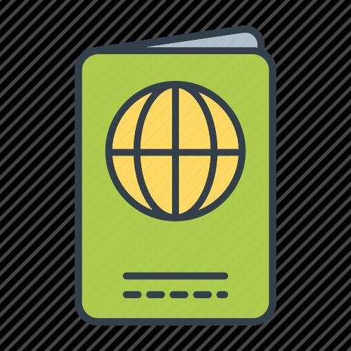 holidays, identification, passport, summer, travel, vacation icon