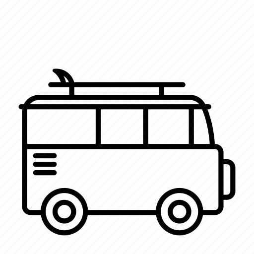 Bus, holidays, summer, surfing, transportation, travel, vacation icon - Download on Iconfinder