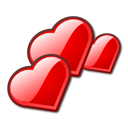 hearts, love icon