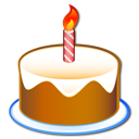 60 jears, birthday, cake, party icon