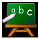 abc, chalkboard, edutainment, learn, package, school icon