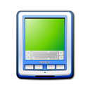 blue, palm, pda icon