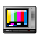 television, tv, teletext, colour icon