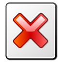 broken, file, x icon