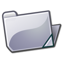 folder, grey, open icon