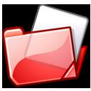 folder, red