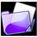 folder, violet