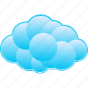 cloud computing, clouds, online, server, sky, weather, web icon