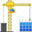 construction, build, building crane, construct, development, industry, project