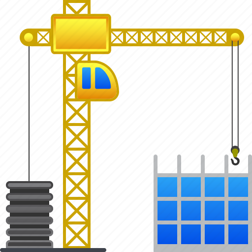 build, building crane, construct, construction, development, industry, project icon