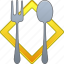 cook, cooking, dinner, fork, kitchen, restaurant, spoon icon
