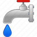 drop, kitchen, liquid, pipe line, plumbing, valve, water icon