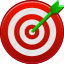 aim, arrow, focus, game, goal, success, target icon