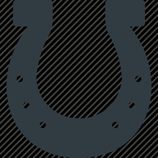 horse, horseshoe, luck, lucky, shoe icon