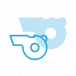 blow, couch, sound, sport, whistle icon