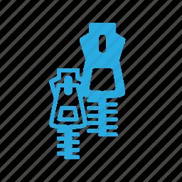 fasshion, zip, zipper icon