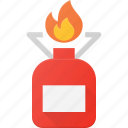 camp, camping, cooker, fire, gas, tank icon