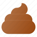 cream, ice, poo, poop, shit icon
