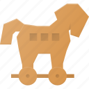 hide, horse, infiltrate, interaction, privacy, protect, tojan icon