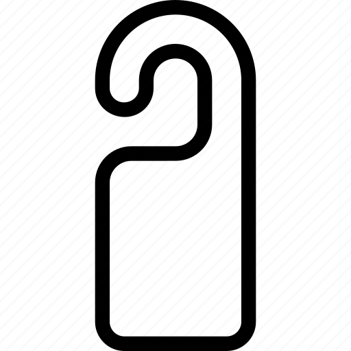 creative, door, exit, grid, handle, hang, hanger, housekeeping, knob, line, objects, shape icon