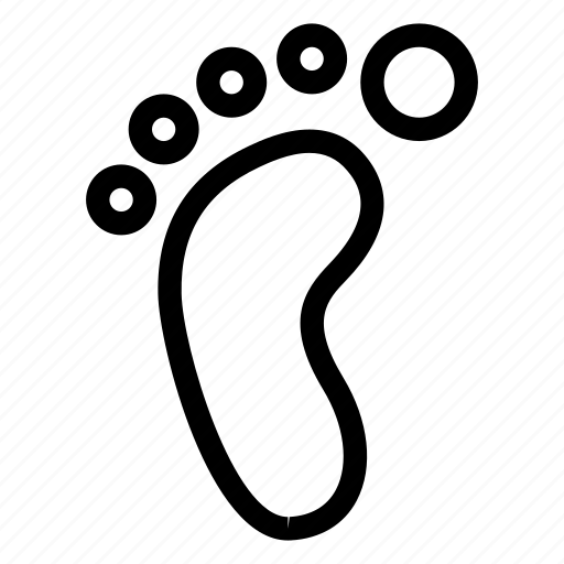creative, foot, footprint, footprints, grid, human, line, objects, sand, shape, step, trace, track, trail icon