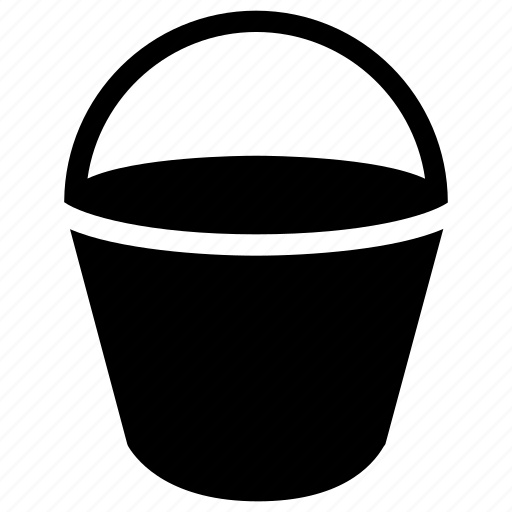 brush, bucket, color, creative, fill, grid, objects, paint, painting, shape, water icon