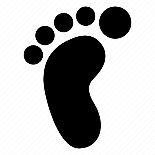 creative, foot, footprint, footprints, grid, human, objects, sand, shape, step, trace, track, trail icon