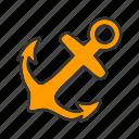anchor, boat, marine, nautical, sea icon