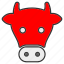 cow, face, head, meat icon