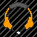 audio, ear, headphone, instrument, music, sound icon