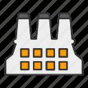 building, construction, estate, factory, industrial icon