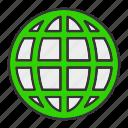 globe, internet, map, network icon