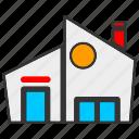 architecture, building, estate, house, property icon