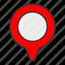 arrow, gps, location, pin, pointer icon