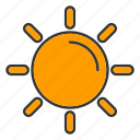 cloud, sun, sunny, weather icon