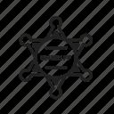 badge, police, sheriff, sheriff badge icon