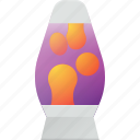 hypster, lamp, lava, retro, romantic icon