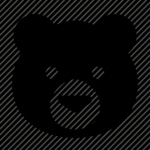 animal, avatar, bear, face, teddy icon