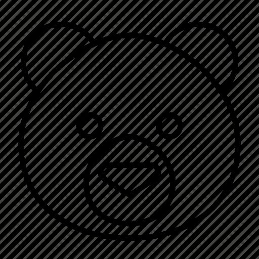 animal, bear, face, head, panda, wild icon