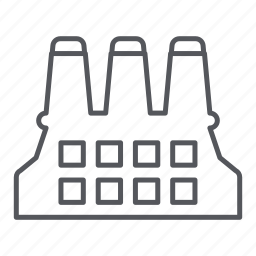 construction, factory, industry, manufacturing, production icon