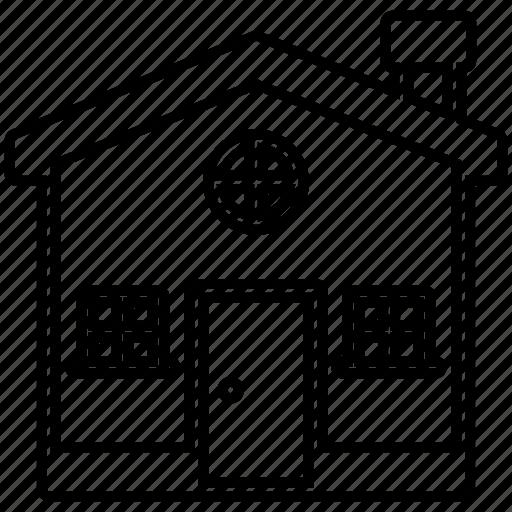 apartment, architecture, estate, house icon