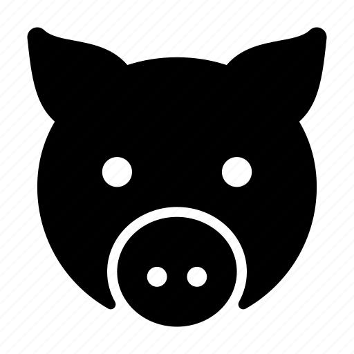 animal, face, pet, pig, piggy icon