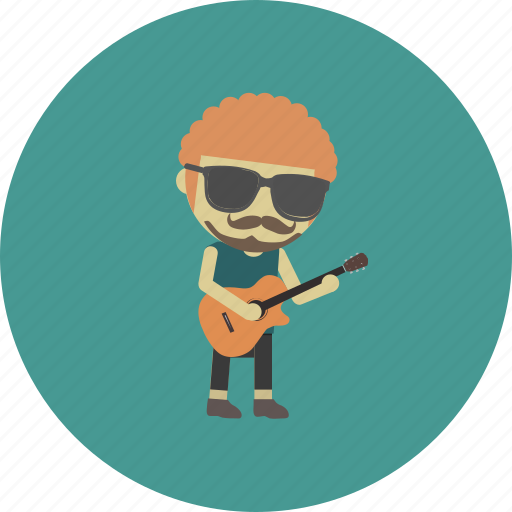 avatar, character, guitar, man, musician, occupation, people icon