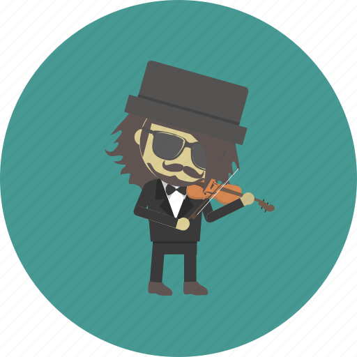 avatar, character, man, musician, occupation, people, violin icon