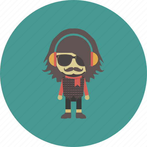avatar, character, man, music, occupation, people, song icon