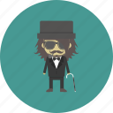 avatar, character, gangster, hipster, man, people, staff icon