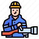 avatar, career, fireman, job, occupation